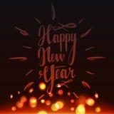 Gelukkig Nieuwjaar 2017 die van letters voorzien Editable en geïsoleerd Stock Afbeelding