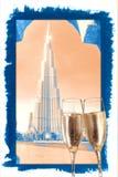 Gelukkig Nieuwjaar 2017 Doubai, Verenigde Arabische Emiraten Royalty-vrije Stock Foto's