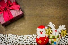 Gelukkig Nieuwjaar en de Vrolijke achtergrond van Kerstmis Stock Foto's