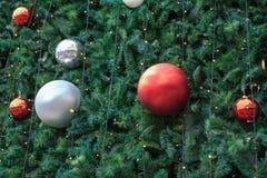 Gelukkig Nieuwjaar en de Vrolijke achtergrond van Kerstmis Stock Afbeelding