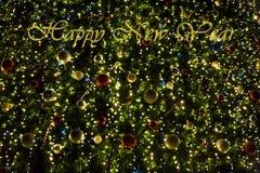 Gelukkig Nieuwjaar en de Vrolijke achtergrond van Kerstmis Stock Fotografie
