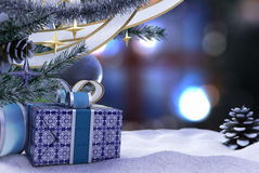 Gelukkig Nieuwjaar en de Vrolijke samenstelling van Kerstmis Royalty-vrije Stock Fotografie