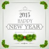 Gelukkig Nieuwjaar en het Vrolijke concept van Kerstmisvieringen Stock Afbeeldingen