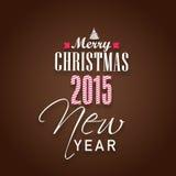 Gelukkig Nieuwjaar en het Vrolijke concept van Kerstmisvieringen Stock Afbeelding