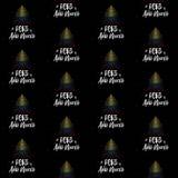 Gelukkig Nieuwjaar en Kerstboom met Columbiaans vlag naadloos vectorpatroon vector illustratie