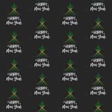 Gelukkig Nieuwjaar en Kerstboom met Jamaïca-vlag naadloos vectorpatroon royalty-vrije illustratie