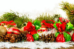 Gelukkig Nieuwjaar en Vrolijke Kerstmis Royalty-vrije Stock Afbeeldingen