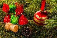 Gelukkig Nieuwjaar en Vrolijke Kerstmis Stock Afbeelding