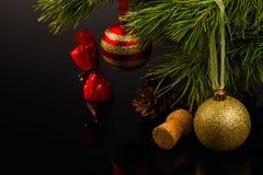 Gelukkig Nieuwjaar en Vrolijke Kerstmis Royalty-vrije Stock Fotografie