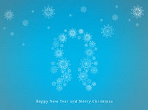 Gelukkig Nieuwjaar en Vrolijke Kerstmis Stock Foto