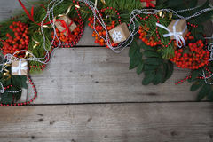 Gelukkig Nieuwjaar en Vrolijke Kerstmis Achtergrond Stock Foto