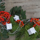 Gelukkig Nieuwjaar en Vrolijke Kerstmis Achtergrond Stock Foto's