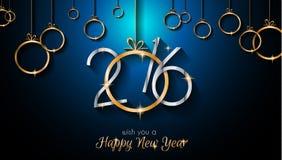 2016 Gelukkig Nieuwjaar en Vrolijke Kerstmisachtergrond Royalty-vrije Stock Foto's