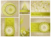 Gelukkig Nieuwjaar en Vrolijke Kerstmisachtergronden Royalty-vrije Stock Afbeeldingen