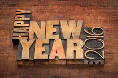 Gelukkig Nieuwjaar 2016 groeten stock afbeelding