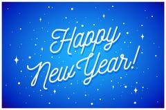 Gelukkig Nieuwjaar Groetkaart met inschrijving vector illustratie