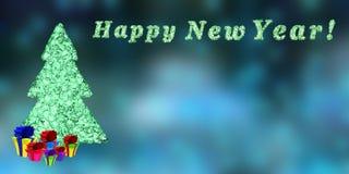 Gelukkig Nieuwjaar, het 3d teruggeven Stock Afbeeldingen