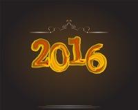 Gelukkig Nieuwjaar 2016 Jaar van de aap Royalty-vrije Stock Afbeeldingen