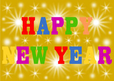 Gelukkig Nieuwjaar in kleurrijke brieven Stock Fotografie