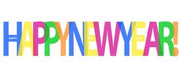 Gelukkig Nieuwjaar - Kleurrijke Vectorachtergrond Royalty-vrije Stock Afbeeldingen
