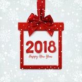 Gelukkig Nieuwjaar 2018 ontwerp, vierkante banner Royalty-vrije Illustratie