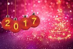 Gelukkig Nieuwjaar 2017 op abstracte achtergrond Stock Foto