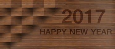 Gelukkig Nieuwjaar 2017 op abstracte achtergrond Royalty-vrije Stock Foto