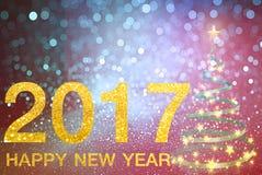Gelukkig Nieuwjaar 2017 op abstracte achtergrond Stock Afbeelding