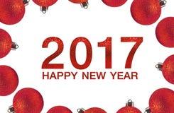 Gelukkig Nieuwjaar 2017 op abstracte achtergrond Royalty-vrije Stock Fotografie