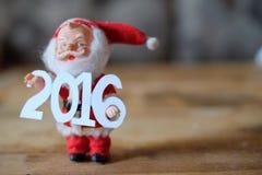Gelukkig Nieuwjaar 2016, Santa Claus Royalty-vrije Stock Afbeeldingen