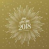 Gelukkig Nieuwjaar Starburst Stock Afbeeldingen