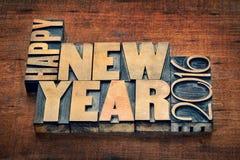 Gelukkig Nieuwjaar typograpjy 2016 Royalty-vrije Stock Foto's