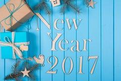 Gelukkig Nieuwjaar vakantie 2017 Stock Fotografie