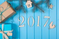 Gelukkig Nieuwjaar vakantie 2017 Stock Foto's
