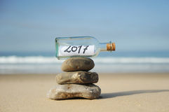 2017 Gelukkig Nieuwjaar zen Stock Afbeeldingen