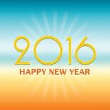 2016 Gelukkig Nieuwjaarontwerp over tropische stijlachtergrond Stock Fotografie