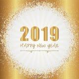 2019 Gelukkig Nieuwjaarskaartontwerp royalty-vrije stock fotografie