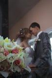 Gelukkig onlangs-gehuwd paar Stock Fotografie