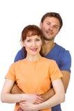 Gelukkig paar dat camera bekijkt Stock Fotografie