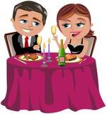 Gelukkig Paar die Romantisch Diner hebben Royalty-vrije Stock Fotografie