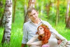 Gelukkig Paar in een Park Royalty-vrije Stock Foto