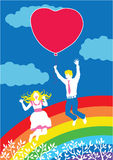 Gelukkig paar in liefde vector illustratie