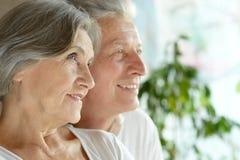 Gelukkig paar op middelbare leeftijd Stock Foto's