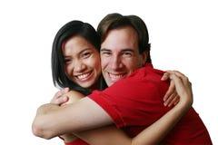 Gelukkig paar (reeks) stock fotografie