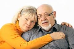 Gelukkig paarportret, close-up Stock Afbeeldingen