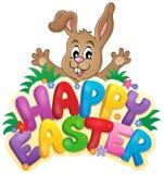 Gelukkig Pasen-beeld 6 van het tekenthema Stock Foto