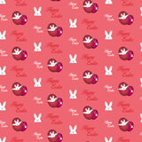 Gelukkig Pasen-Konijn Bunny Pink Seamless Background stock illustratie