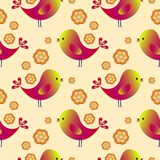 Gelukkig patroon met vogels Gelukkige Pasen Kleurenvogels vector illustratie
