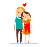 Gelukkig romantisch paar Stock Fotografie
