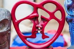 Gelukkig romantisch sensueel paar in liefde samen Concept stock afbeelding
